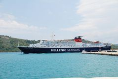 Ferry boat, Skiathos Royalty Free Stock Images