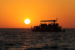 Ferry Boat Sunset Royalty Free Stock Images