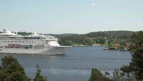 Ferry boat in Sweden stock video