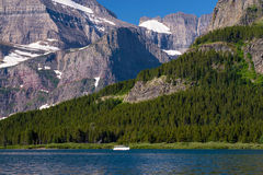 Ferry boat, swiftcurrent lake Royalty Free Stock Images