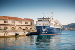 Ferry Boat at Syros Island Royalty Free Stock Image