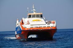 Ferry boat, Tilos island Stock Image
