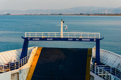 Ferry boat to Thassos island Stock Photos
