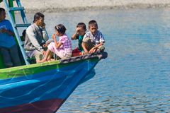 Ferry boat to the Togean Islands, Indonesia Stock Photography