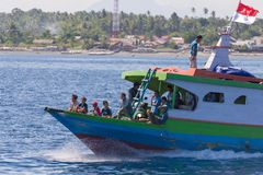 Ferry boat to the Togean Islands, Indonesia Royalty Free Stock Photos
