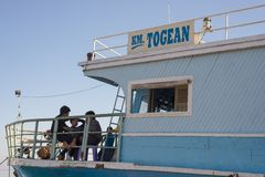 Ferry boat to the Togean Islands, Indonesia Royalty Free Stock Images