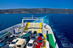 Ferry boat tourist line to island Stock Images