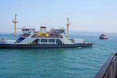 Ferry boat traffic stock photos