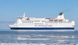 Ferry-boat transportant des passagers de princesse Anastasia Images libres de droits