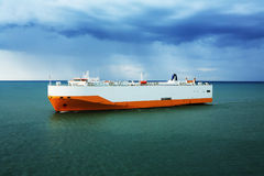 Ferry boat transportation ship Stock Image