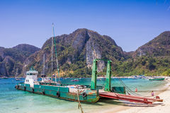 Ferry boat. Transportation to phi phi island Stock Image