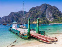 Ferry boat2. Ferry boat transportation to phi phi island Royalty Free Stock Images