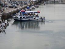 Ferry boat turning Stock Photos