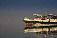 Ferry boat in the Venice lagoon Stock Photo