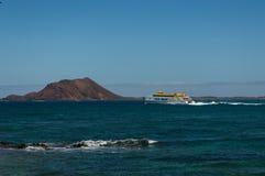 Ferry-boat vers Lanzarote photos stock
