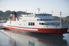 Ferry-boat view from side Stock Photography