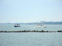 Ferry Boats Lake Michigan Royalty Free Stock Photo