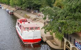 Ferry Boats on the Ouse York England stock photography