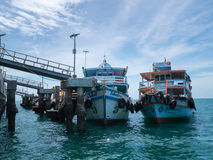 Ferry boats at Ta wean port in Koh Lan Island.THAILAND Royalty Free Stock Photography
