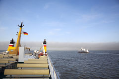 Ferry boats to the North Frisian islands Royalty Free Stock Photos