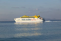 Ferry Bocayna Express from Fred Royalty Free Stock Image