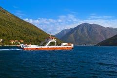 Ferry in Boka Kotor bay - Montenegro Royalty Free Stock Photos