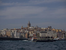 Ferry in the Bosphorus Stock Photography