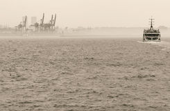 Ferry on Bosphorus in Istanbul, Turkey Stock Photos