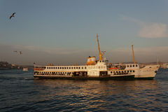 Ferry at Bosphorus River in Istanbul Stock Image
