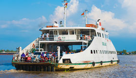 Ferry brings commuters from Saigon Stock Photos