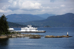 Ferry in British Columbia Royalty Free Stock Photography