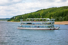 Ferry. At the Brombachsee, Bavaria, Germany Royalty Free Stock Photos
