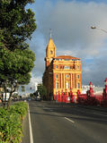 The Ferry Building, Auckland. New Zealand, taken in the early morning lit with golden light royalty free stock image