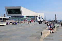 Ferry Building and Waterfront, Liverpool. Stock Image