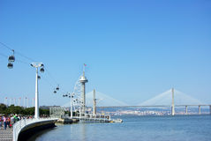 Ferry cable in Lisbon. Royalty Free Stock Photos