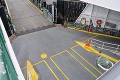 Ferry car desk entrance Royalty Free Stock Photo