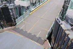 Ferry car desk entrance Stock Photo