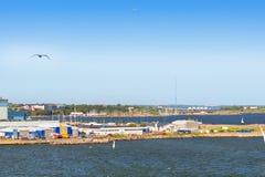 Ferry cargo-passenger terminal West harbor Stock Image