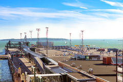 Ferry cargo-passenger terminal West Harbour Stock Photo