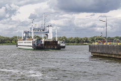 Ferry with cars Royalty Free Stock Photos