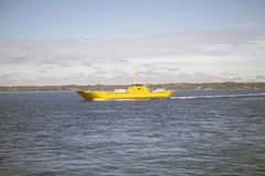 Ferry in the Chacao Channel, Chile Royalty Free Stock Images