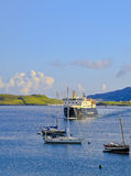 The ferry at Castlebay, Barra, Scotland Stock Image