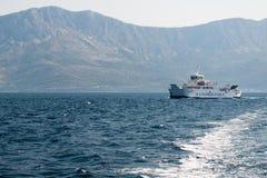 Ferry of company Jadrolinija near the island Hvar in Croatia Royalty Free Stock Images