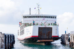 Ferry conveying passengers and goods, Thailand Stock Image