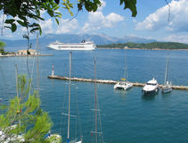 Ferry a Corfu imagens de stock royalty free