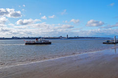 Ferry cross the Mersey Royalty Free Stock Photos