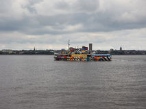 Ferry cross the Mersey in Liverpool Royalty Free Stock Images