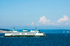 Ferry. A ferry crosses the puget sound on its daily run Royalty Free Stock Photo