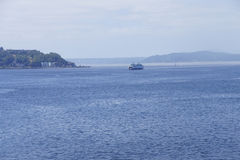 Ferry crosses Puget Sound Stock Photo