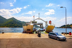 Ferry crossing on bay Royalty Free Stock Image
